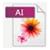 AI fileformat ikon