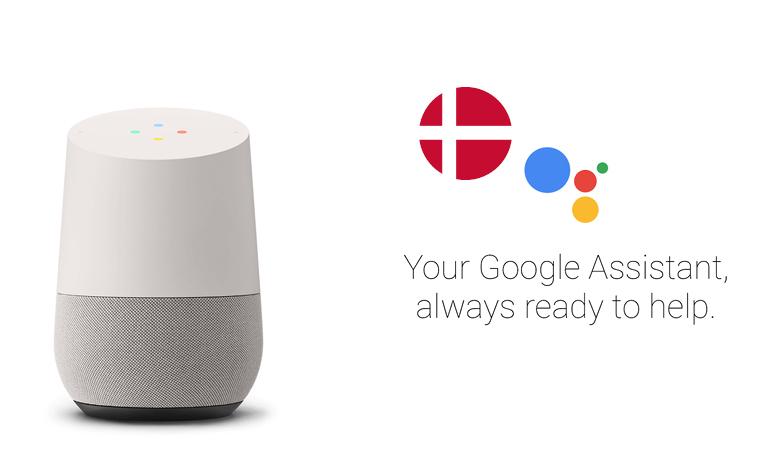 Google Home på dansk
